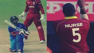 India vs West Indies 2nd ODI: Ashley Nurse's Celebration of Ambati Rayudu's Wicket Will Remind You of Kapil Sharma -- WATCH