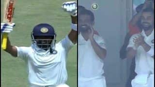 India vs West Indies 1st Test Day 1 Rajkot: Virat Kohli, Ajinkya Rahane's Priceless Reaction After Prithvi Shaw Becomes Youngest Opener to Score Century on Debut is Unmissable -- WATCH