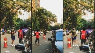India vs West Indies 4th ODI at Mumbai: Rohit Sharma Plays Gully Cricket in The Streets Ahead of Crucial Clash -- WATCH