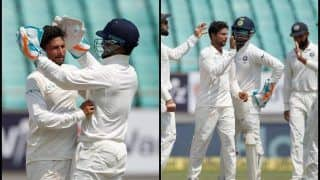 India vs West Indies 1st Test Day 3 at Rajkot: Kuldeep Yadav Bags Record-Breaking Five-Wicket Haul, Comprises of Kieron Powell And Sunil Ambris, Twitter Erupts -- WATCH