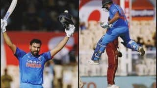 India vs West Indies 4th ODI: Rohit Sharma Slams 21st Century, Surpasses Chris Gayle, Shahid Afridi in Ratio For Sixes/Innings Record