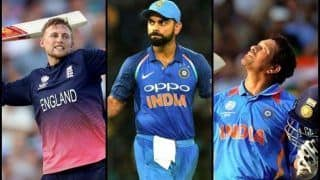India vs West Indies 1st ODI: Virat Kohli Slams 49th Fifty, Joins Sachin Tendulkar, Joe Root And Matthew Hayden to Become Fourth Batsman to Score 2000 International Runs in Consecutive Years