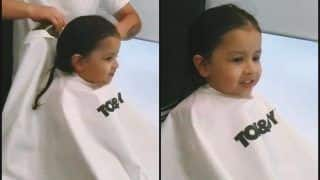 MS Dhoni's Daughter Ziva's Expressions Are Extremely Adorable on Her Salon Date -- WATCH