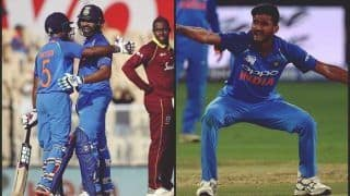 India vs West Indies 4th ODI at Brabourne Stadium Match Report: Rohit Sharma's Record-Breaking 21st Ton, Ambati Rayudu's Century And Kuldeep Yadav, Khaleel Ahmed's 3-Fer Star as India Take 2-1 Lead