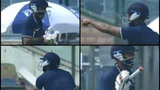 Deodhar Trophy 2018-19, India A vs India C, 3rd Match: Ankeet Bawne Comes Out to Bat With Only One Glove -- WATCH
