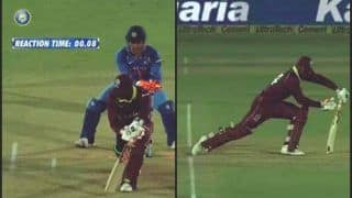 India vs West Indies 4th ODI: MS Dhoni Faster Than Lightening, Stumps Keemo Paul in 0.08 Seconds -- WATCH