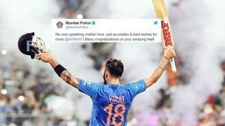 India vs West Indies 2nd ODI: Mumbai Police Tweet on Virat Kohli's 37th Century Outsmarts Virender Sehwag's Quirky Post