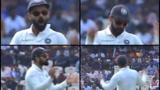 India vs West Indies 2nd Test: Captain Virat Kohli Eggs on Crowd During Match For Support -- WATCH