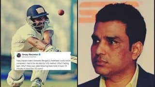Vijay Hazare Trophy 2018-19: Manoj Tiwary Slams Sanjay Manjrekar For Wrong Message With Series of Tweets