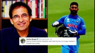 India vs West Indies 2018 ODIs: Harsha Bhogle Feels it is Over For Dinesh Karthik After BCCI Snubs Him, Twitter Disagrees