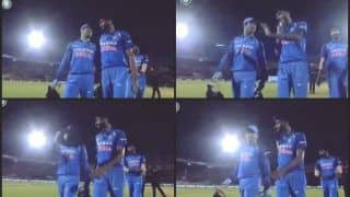 India vs West Indies 4th ODI at Brabourne Stadium: MS Dhoni Giving Tips to Young Khaleel Ahmed Will Win Your Heart -- WATCH