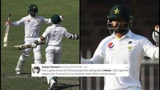 Pakistan vs Australia 1st Test in Dubai: Mohammed Hafeez Slams Record-Breaking Century, Sets Twitter Ablaze