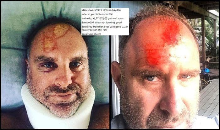 Cricket great Matthew Hayden fractures spine in surfing accident