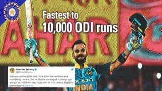 India vs West Indies 2nd ODI: Virender Sehwag to Maohammed Hafeez, How Cricketing Fraternity Reacted to Virat Kohli's 37th ODI Century
