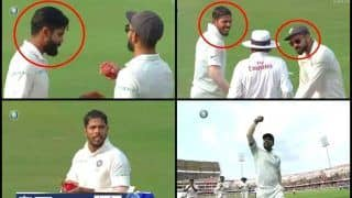 India vs West Indies Tests: How Captain Virat Kohli Took Ball From Ravindra Jadeja And Helped Umesh Yadav Bag 10 Wickets -- PICS