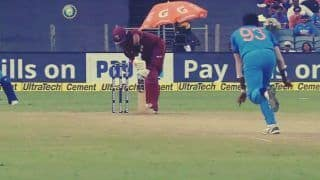 India vs West Indies 3rd ODI: Jasprit Bumrah's Toe-Crushing Yorker Cleans up Shai Hope -- WATCH
