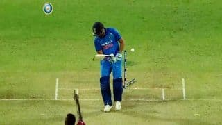 India vs West Indies 3rd ODI: Rohit Sharma Clean Bowled by Jason Holder -- WATCH