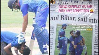 Vijay Hazare Trophy 2018: Rohit Sharma Gets Kissed by Fan, Yuzvendra Chahal, Ritika Sajdeh Are Jealous After Virat Kohli Gets Same Treatment -- WATCH