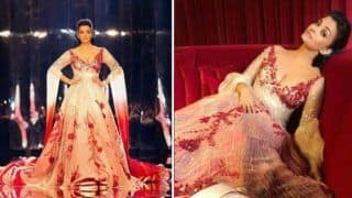 Aishwarya Rai Bachchan Wears a Red And Silver Manish Malhotra Gown And Spreads Sparkles on The Ramp at a Fashion Show in Doha - See Pics
