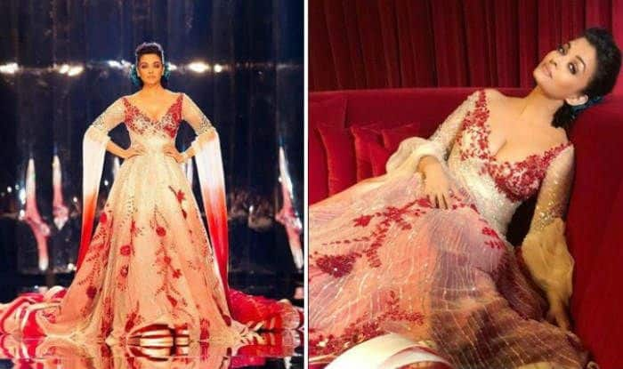 Aishwarya Rai Bachchan Wears A Red And Silver Manish Malhotra Gown And Spreads Sparkles On The Ramp At A Fashion Show In Doha See Pics India Com