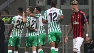 Real Betis Defeat AC Milan 2-1 in UEFA Europa League