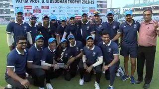 देवधर ट्रॉफी 2018: इंडिया बी को हरा इंडिया सी ने ट्रॉफी पर किया कब्जा, अजिंक्य रहाणे का शानदार शतक
