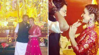 Bigg Boss Finalist And Komolika of Kasautii Zindagii Kay Hina Khan Looks Super Hot as She Poses With Beau Rocky Jaiswal at Durga Puja Pandal in Kolkata - See Pictures