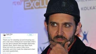 Hrithik Roshan Makes Twitterati Feel 'Proud' With His Statement on Vikas Bahl Sexual Harassment Case