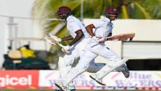 India vs West Indies 2018, 2nd Test: Roston Chase, Jason Holder Slam Fifties as Windies Score 295/7 Against India on Day 1