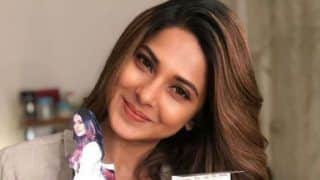 Bepannaah Fame Jennifer Winget Beams With Happiness as She Holds Basket of White Roses - See Picture