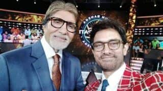 Kaun Banega Crorepati 10: Amitabh Bachchan's Fellow 'Thugs of Hindostan' Shoots For a Special Episode - See Picture