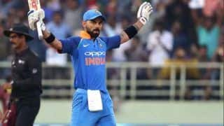 India vs West Indies 4th ODI: Indian Captain Virat Kohli's Brilliant Reaction After Crowd Chants Anushka Sharma's Name at Brabourne Stadium - Watch video