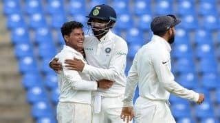 Highlights India vs West Indies 2018, 1st Test, Day 3 at Rajkot: Kuldeep Yadav, Ravindra Jadeja Star as India Thump Windies by an Innings to Take 1-0 Lead