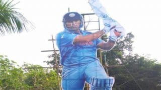 MS Dhoni Gets Grand Welcome in Thiruvananthapuram, Fans Place 35 Feet Cutout Outside Stadium Ahead of 5th ODI vs West Indies | SEE PIC