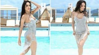 Malaika Arora Looks Hot AF as She Takes a Dip in a Pool in Shimmery Grey Monokini - See Pictures