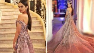 Miss World 2017 Manushi Chhillar Raises Hotness Quotient as She Attends MIPCOM in Cannes in Pastel Pink Gown - See Pictures