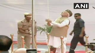 PM Narendra Modi Hoists Tricolour at Red Fort to Mark 75th Anniversary of 'Azad Hind Government', Dedicates National Police Memorial to Nation