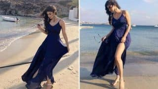 Naagin Fame Mouni Roy Looks Uber Hot as She Poses in Sexy Blue Dress on a Beach - See Pictures