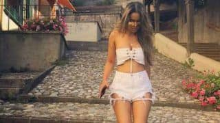 Second Sexiest Asian Woman Nia Sharma Looks Super Hot in White Tube Crop Top and Ripped Shorts - See Pictures