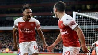English Premier League: Pierre-Emerick Aubameyang, Mesut Özil Score as Arsenal Down Leicester City 3-1