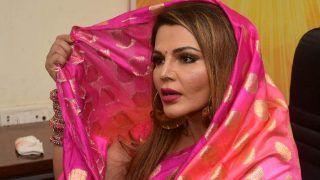 VIDEO: बिना शादी 'सुहागन' बन राखी सावंत ने संगम में लगाई डुबकी