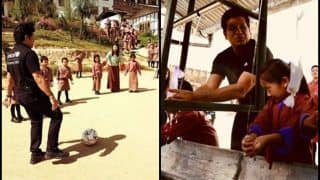 Sachin Tendulkar Meets Bhutan PM, Plays Football With Local Kids And Demonstrates Sanitation Awareness