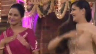 Haryanvi Dancer Sapna Choudhary and Television Hottie Hina Khan Flaunt Their Desi Thumkas on Teri Aakhya Ka Yo Kajal in This Throwback Video - Watch