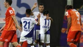 Indian Super League 2018-19: Sunil Chhetri's Prolific Brace Inspires Bengaluru to 3-0 Thumping Victory Over Pune City--Watch Video