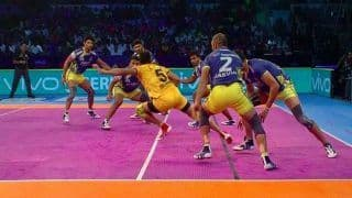 Pro Kabaddi 2018: Telugu Titans Victorious in South-Indian Derby, Hands Tamil Thalaivas Second Straight Defeat