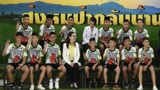 'Cave Survivors' Thailand Football Team Visits Argentina's River Plate Club