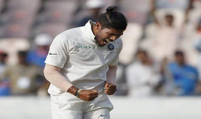 LIVE Cricket Score India vs West Indies 2018, 2nd Test Day 2 at Hyderabad: Umesh Yadav Picks Up Six-For to Bundle Windies For 311