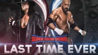 WWE Super Show Down 2018: Undertaker vs Triple H 'Last Time Ever' Match Set to be a Blockbuster Clash