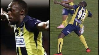 Usain Bolt Scores Two Goals in His First Start For Central Coast Mariners FC--WATCH