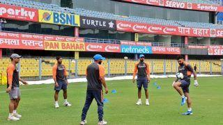 India vs West Indies 2018, 1st ODI: Virat Kohli, MS Dhoni, KL Rahul, Umesh Yadav Play Football During Practice Session Ahead of Series Opener Against Windies | SEE PICS